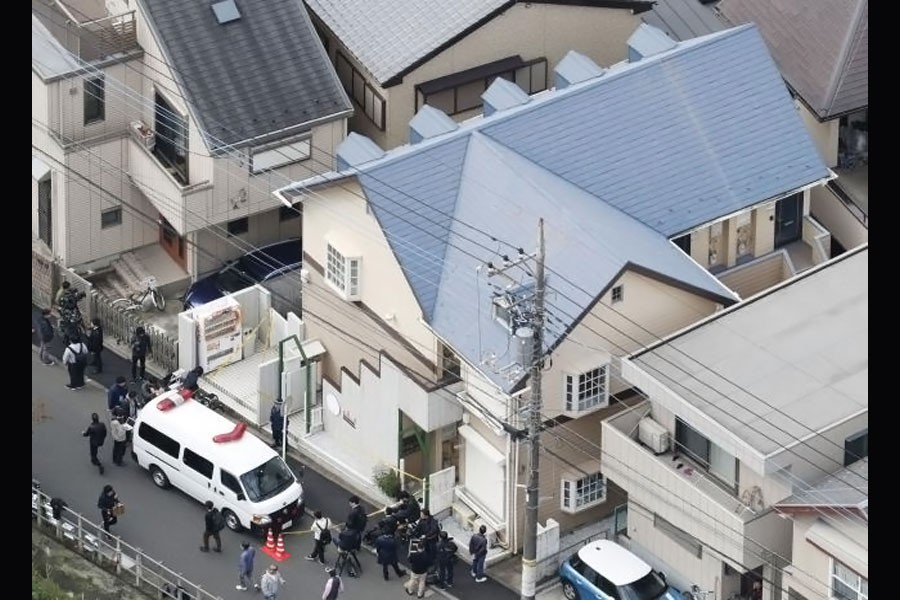An aerial photo of Shiraishi's apartment. (collected)