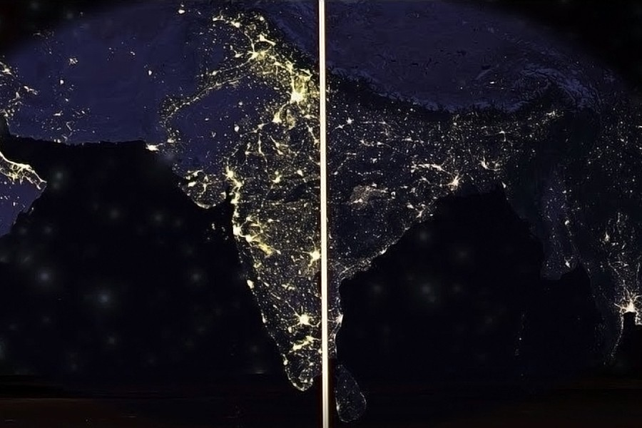Study shows nightlight intensity's correlation with GDP level