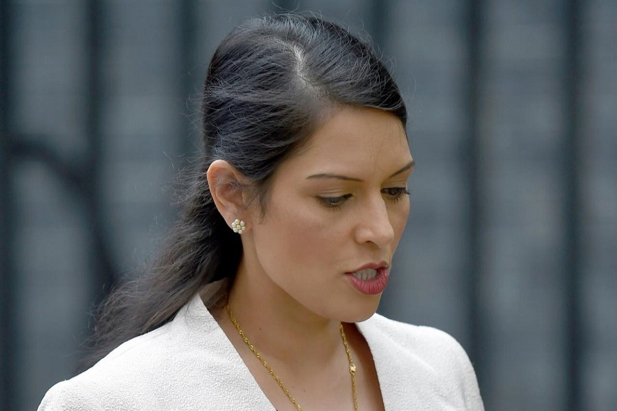 Britain's Employment Minister Priti Patel, leaves after a cabinet meeting in Downing Street in central London, Britain June 27, 2016. Reuters/File Photo