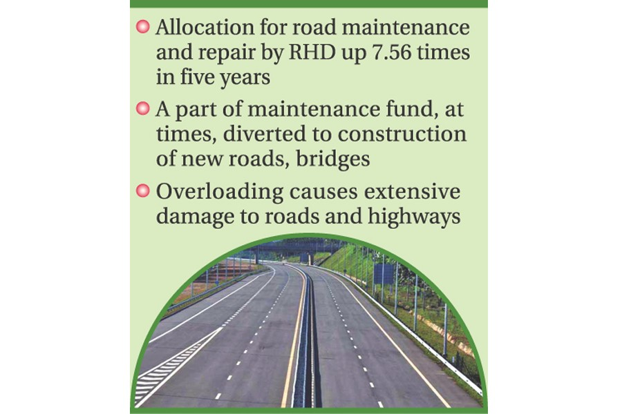 Maintenance mess leaves  highways in a shambles