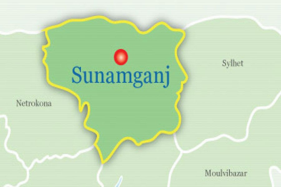 Google map showing Sunamganj district