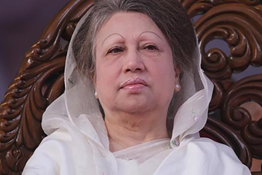 Khaleda is expected to arrive at Suhrawardy Udyan in the capital Dhaka by 3pm on Sunday. File Photo