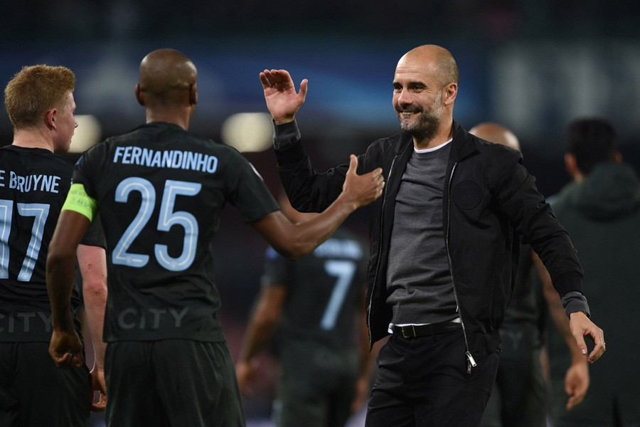 The Citizens are currently at the top of the table with a lead of 8 points from the second-placed Manchester United. - Collected