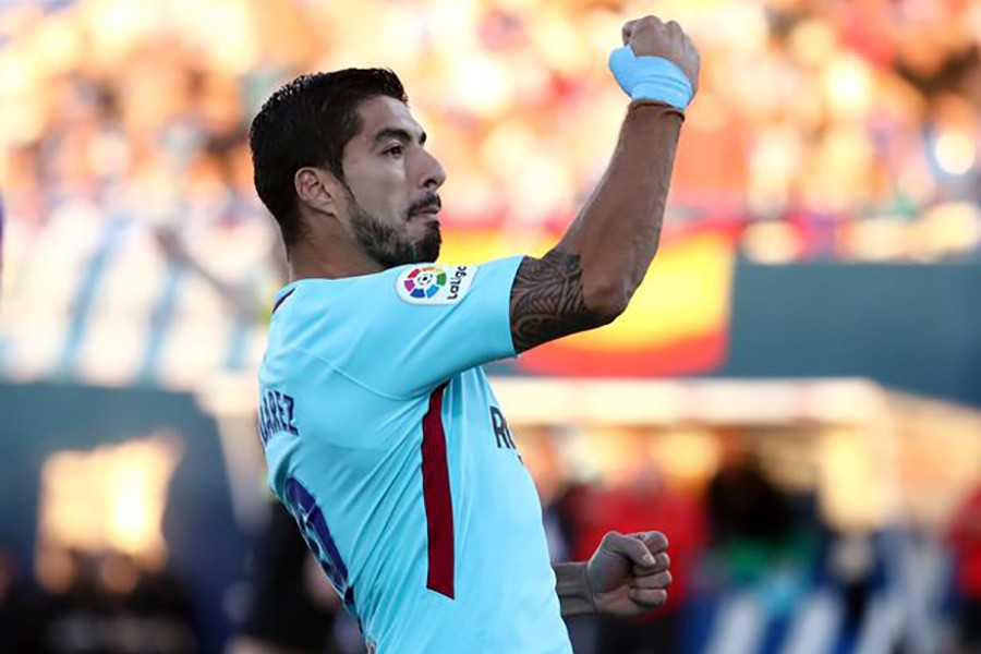 Suarez ended his goalless streak - which had run to 479 minutes - in all competitions. - Reuters photo