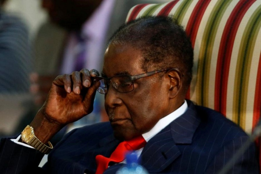Zimbabwean President Robert Mugabe gestures as he attends the 2nd Session of the South Africa-Zimbabwe Bi-National Commission in Pretoria, South Africa October 3, 2017. Reuters