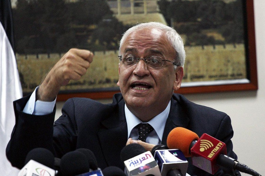 Image of Saeb Erekat, secretary general of the Palestine Liberation Organisation and Palestinian Authority chief negotiator  (Collected)