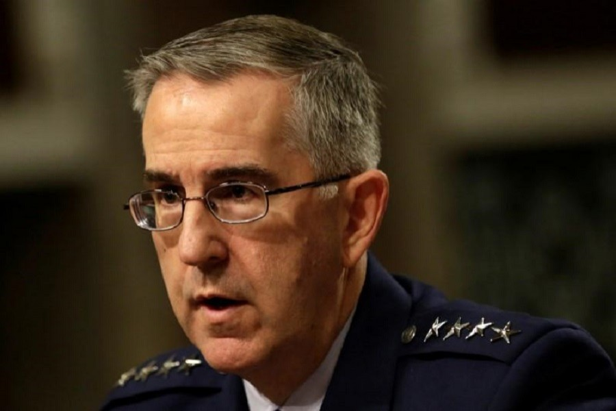 US Air Force General John Hyten, Commander of US Strategic Command, testifies in a Senate Armed Services Committee hearing on Capitol Hill in Washington, US, April 4, 2017. Reuters/Files