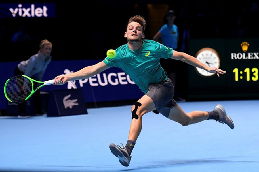 The Belgian seventh seed, 26, secured his first victory in seven attempts against the 19-time Grand Slam champion. - Reuters photo