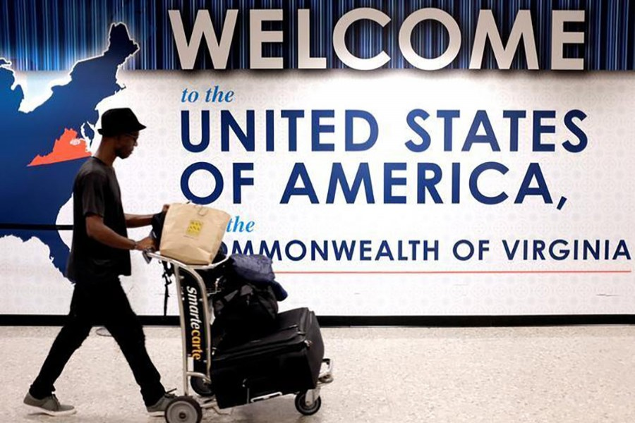 A man exits the transit area after clearing immigration and customs on arrival at Dulles International Airport in Dulles, Virginia, US on September 24 last. - Reuters file photo