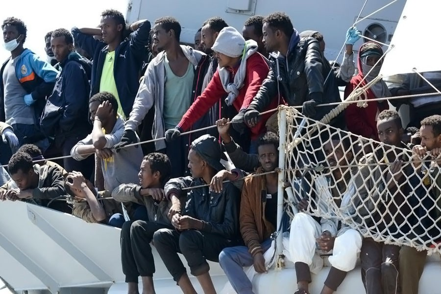 Migrants cross seas to escape violence but many of them face death. (AP photo used for representational purpose)