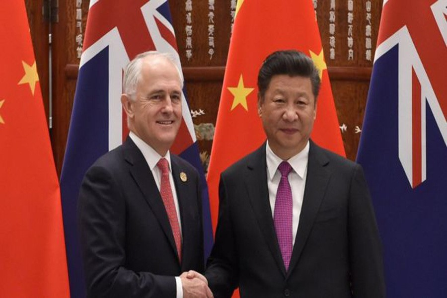 Australian PM Malcolm Turnbull with Chinese President Xi Jinping last year, photo: Collected