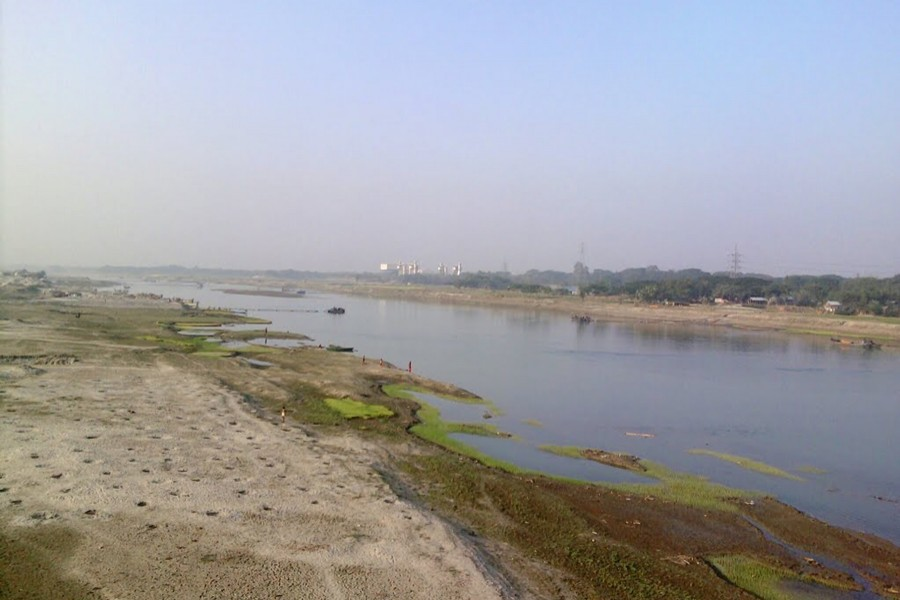 An emaciated stream of the Brahmaputra. — Photo: Collected