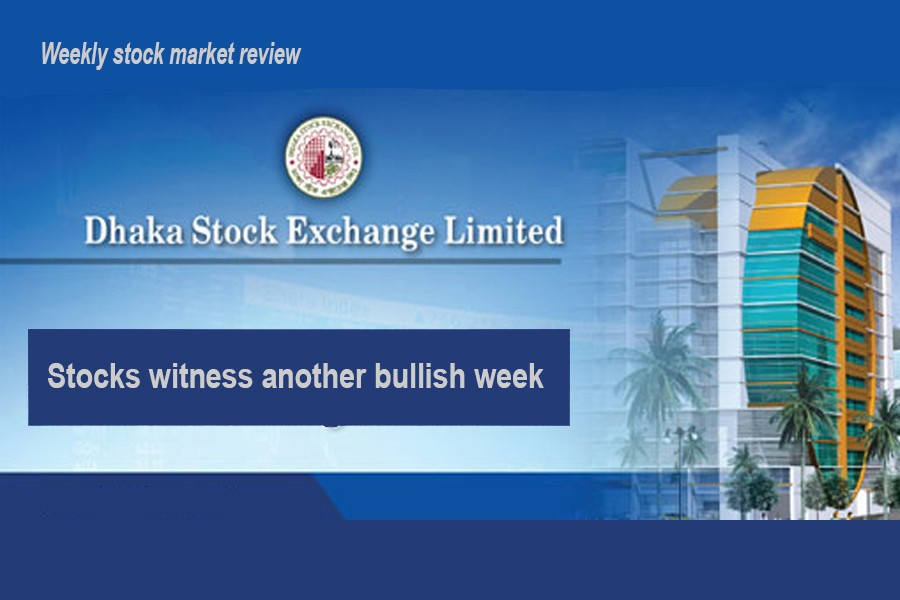 Stocks gain for fourth straight week