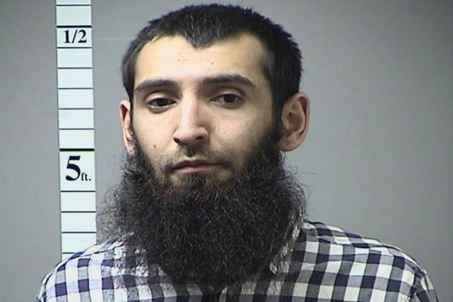 Sayfullo Saipov faces 22 murder and terrorism charges in the US, including providing material support to so-called Islamic State - Handout photo via Reuters.