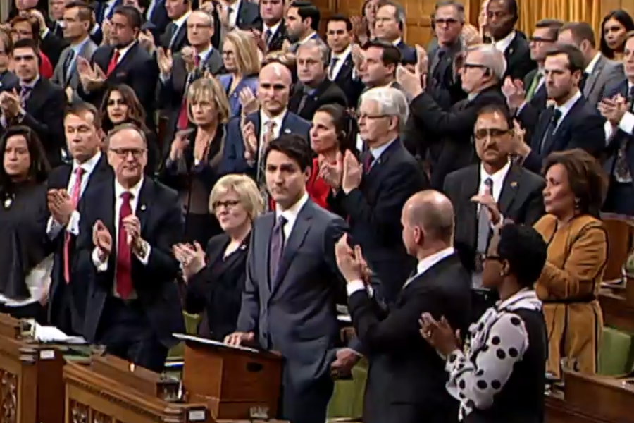 PM Justin Trudeau apologized for previous federal government discrimination against LGBT Canadians on November 28 in the House of Commons in Ottawa.
