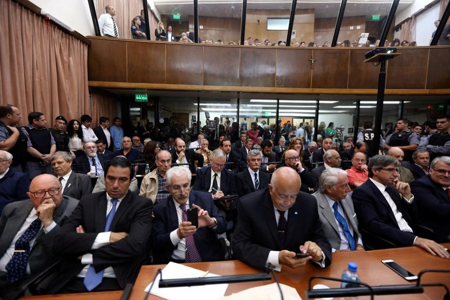 A view of hearing over dictatorship crimes in Buenos Aires, November 29, 2017. Reuters