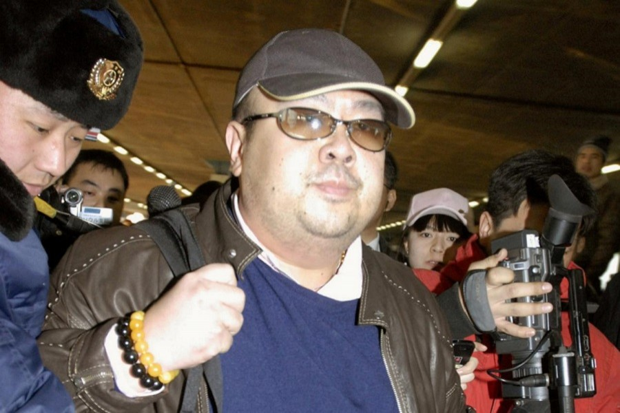 Kim Jong Nam arrives at Beijing airport in Beijing, China, in this photo taken by Kyodo February 11, 2007. Kyodo/via REUTERS/File Photo
