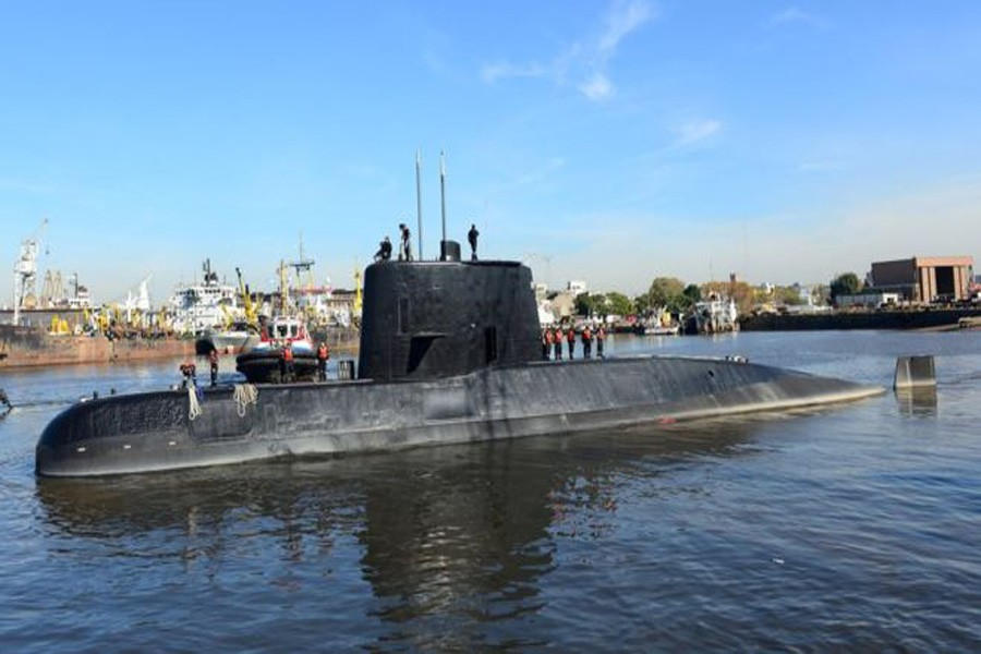 The Argentine military submarine ARA San JuanImage copyrightREUTERS Image caption Hope of finding the ARA San Juan with surviving crew members has faded: Reuters