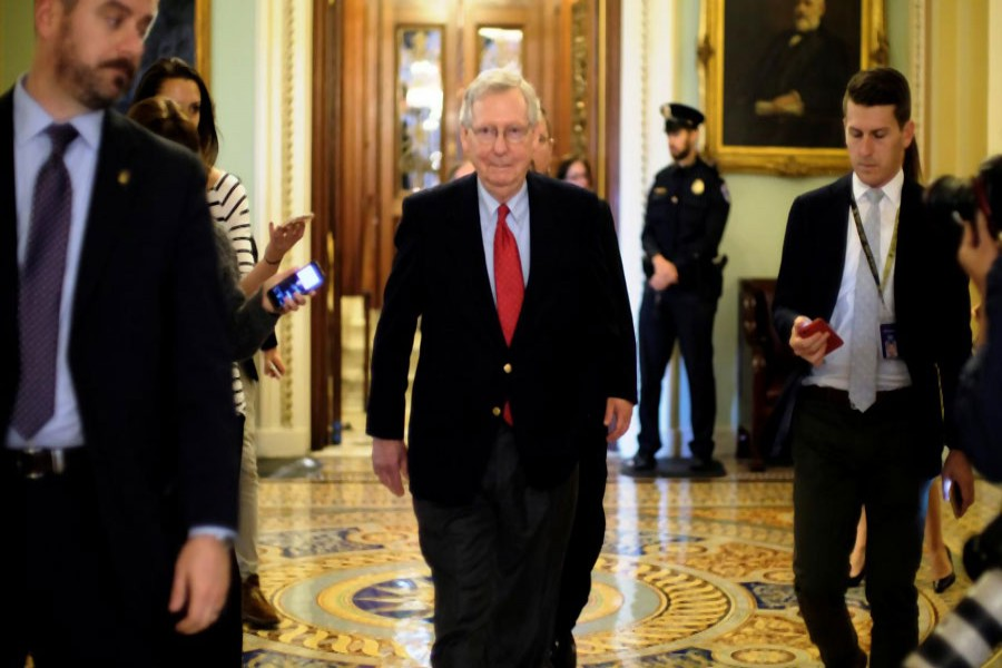 U.S. Senate Majority Leader Mitch McConnell (R-KY) leaves the Senate floor during debate over the Republican tax reform plan in Washington, Reuters Photo