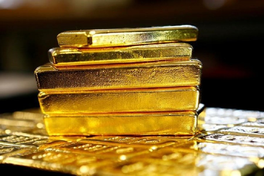 Gold bars are seen at the Austrian Gold and Silver Separating Plant 'Oegussa' in Vienna, Austria, March 18, 2016. Reuters/File Photo