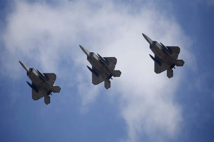 SEOUL: The war games include the largest simultaneous deployment of Raptor fighter jets in South Korea on Monday.	— Reuters