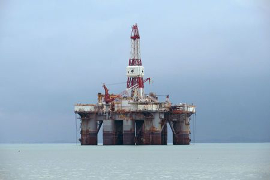 An oil rig off the coast of Johor, Malaysia. — Reuters
