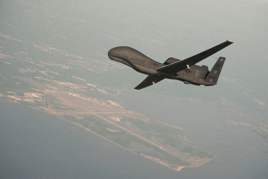 Representational Image: A RQ-4 Global Hawk drone is conducting tests over Naval Air Station Patuxent River, Maryland, US in this undated US Navy photo. (Courtesy: REUTERS)
