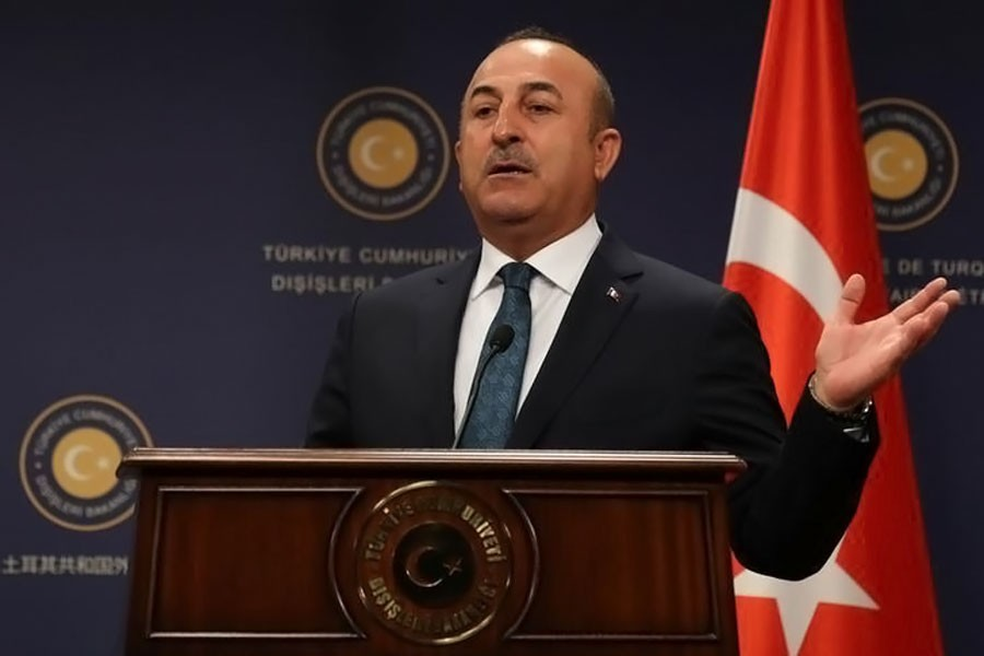 Turkish Foreign Minister Mevlut Cavusoglu gestures at a news conference in Ankara, Turkey, October 24, 2017. (Reuters Photo)