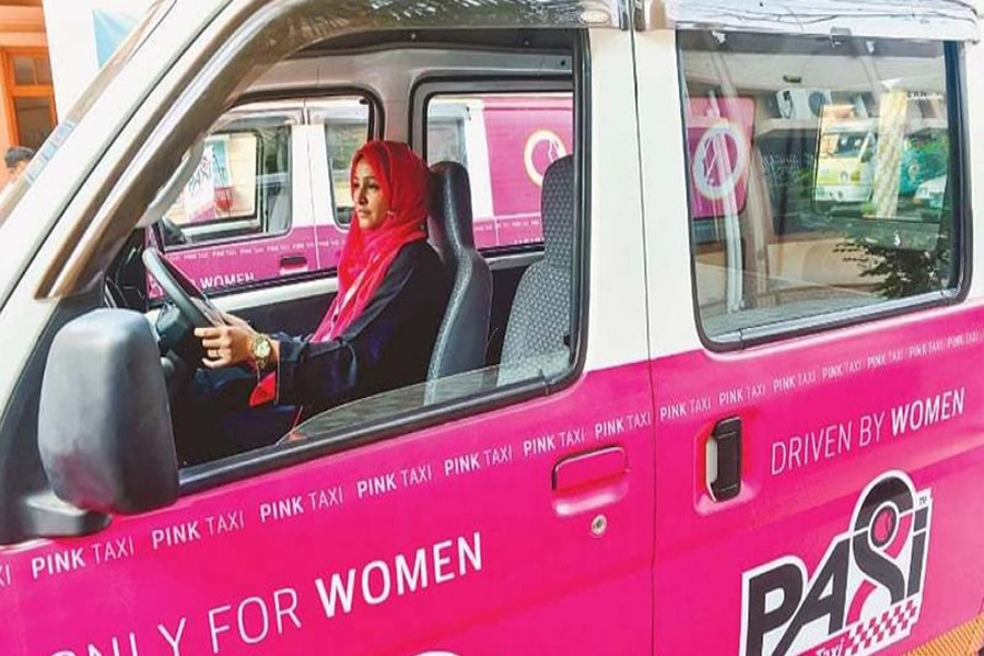 Karachi's female taxi drivers firm to ferry women safely around the city