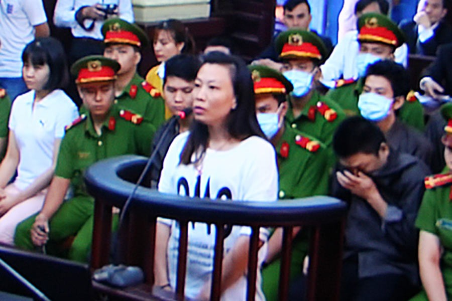 A screenshot of the trial in Ho Chi Minh City.