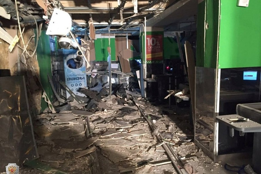 An interior view of a supermarket is seen after an explosion in St Petersburg, Russia, in this photo released by Russia's National Anti-Terrorism Committee on December 28, 2017. National Anti-Terrorism Committee via Reuters
