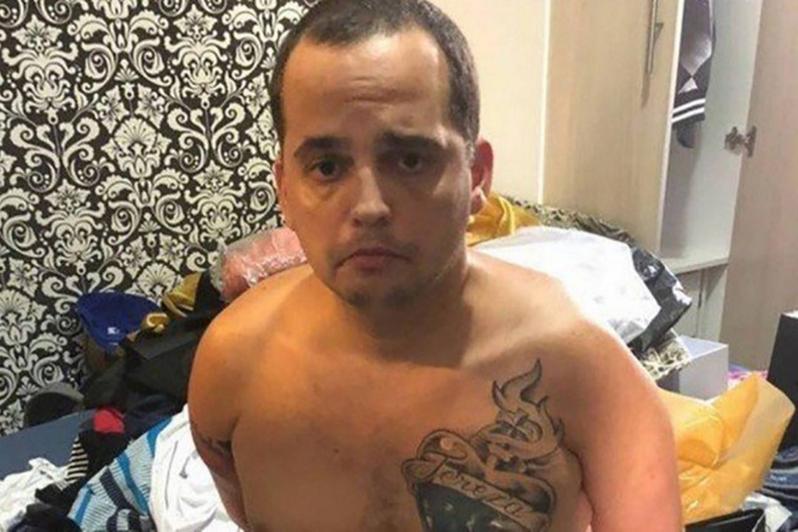 Vieira, also known as BH, had been serving a 26-year sentence for drug trafficking when he escaped from the Aparecida de Goiania jail in November last. Courtesy: Civil Police of Rio