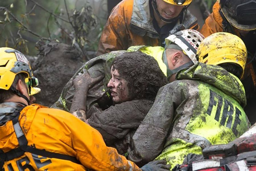 California mudslides claims at least 13 lives