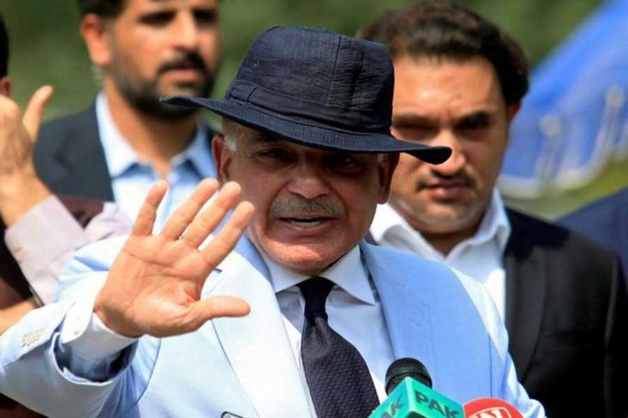 In this Reuters file photo, Shahbaz Sharif, Chief Minister of Punjab Province and brother of Pakistan's Prime Minister Nawaz Sharif, gestures after appearing before a Joint Investigation Team (JIT) in Islamabad, Pakistan.