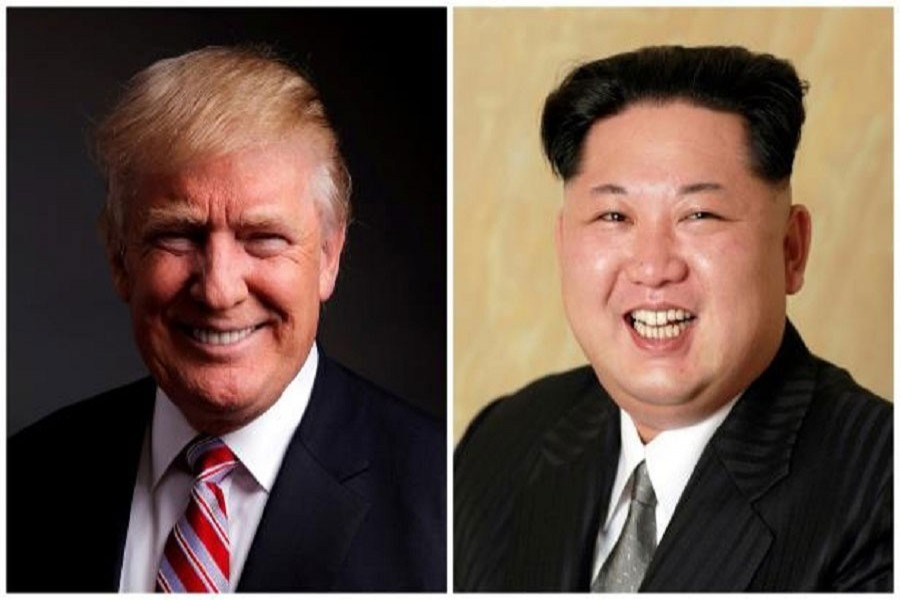 US President Donald Trump and North Korean supreme leader Kim Jong Un  are seen in this combination photo.Reuters/Files