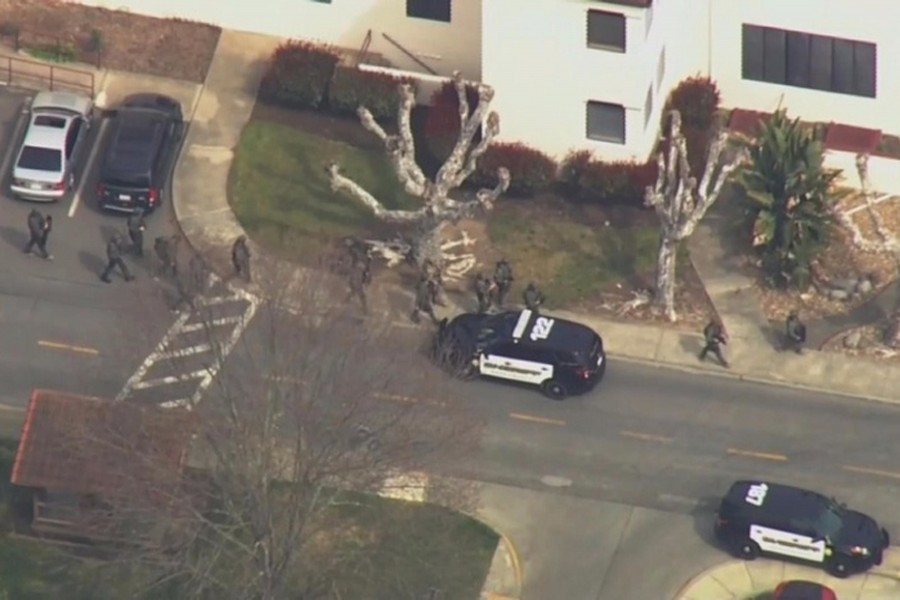 Active shooter situation at California veterans' home in US. Image: Reuters TV