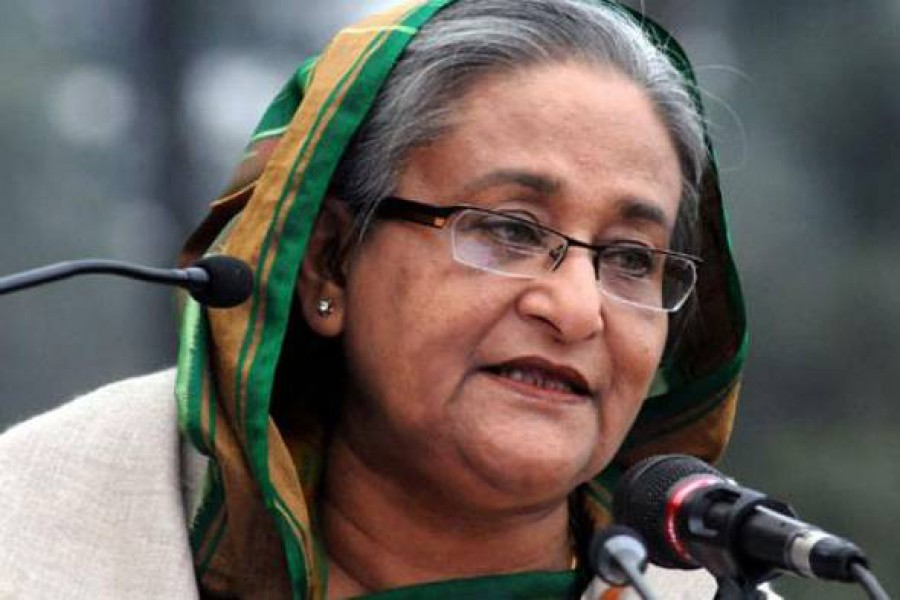 Prime Minister Sheikh Hasina. File Photo