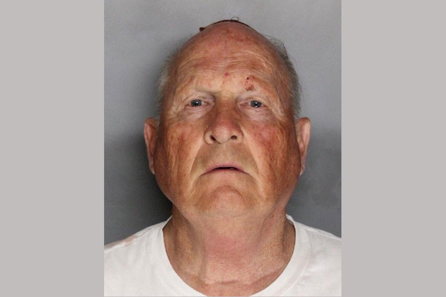 Joseph James Deangelo, 72 appears in a booking photo provided by the Sacramento County Sheriff's Department, April 25, 2018. Sacramento County Sheriff's Department/Handout via Reuters.
