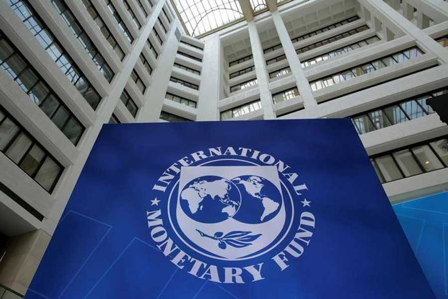 The International Monetary Fund logo is seen during the IMF/World Bank spring meetings in Washington, April 21, 2017. Reuters/Files