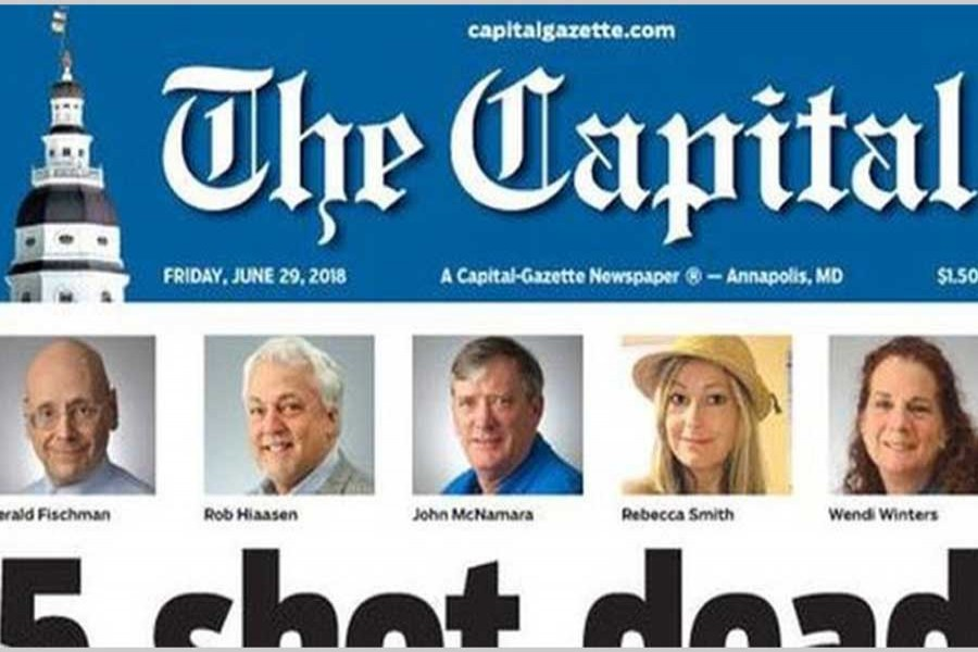 Newspaper staff publish edition in defiance after shooting attack