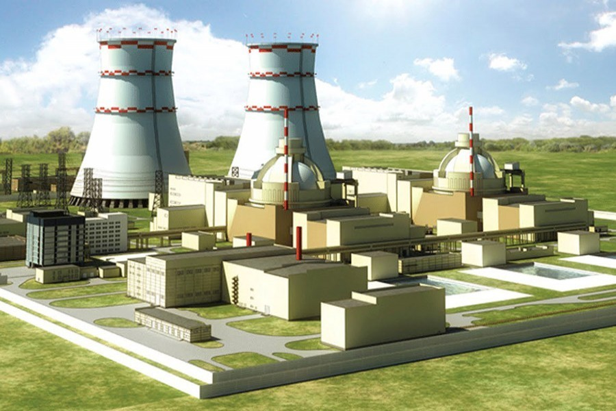 Artist's view of Rooppur nuclear power plant. – Collected.