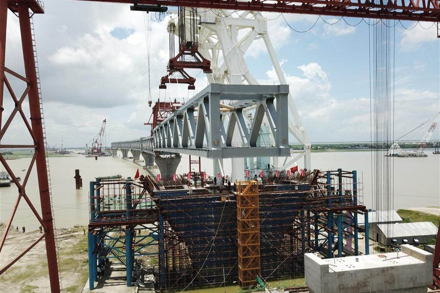 The rail link will also connect Mongla and Benapole ports through 6.15-kilometre under-construction Padma Bridge - Xinhua file photo