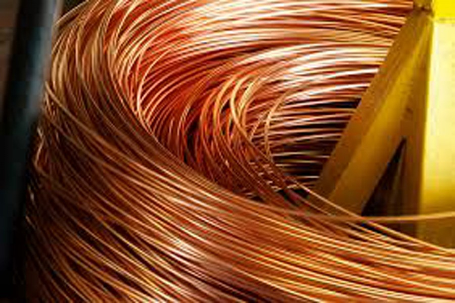 Copper heads for fifth weekly loss