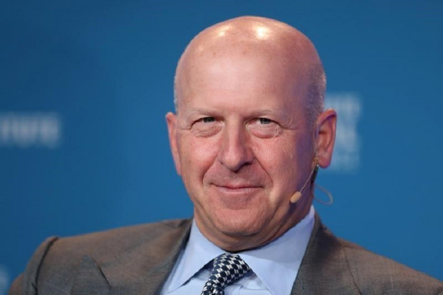 David M. Solomon, President and Chief Operating Officer, Goldman Sachs, speaks at the Milken Institute's 21st Global Conference in Beverly Hills, California, US, April 30, 2018. Reuters/File Photo