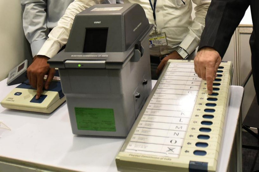 Picture of an EVM used for representational purpose only