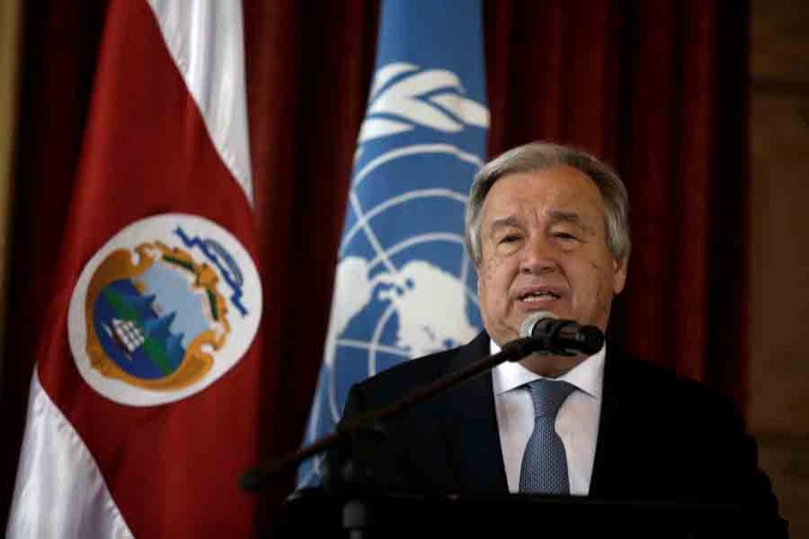 UN Secretary General Antonio Guterres speaks during his visit to the United Nations School in San Jose, Costa Rica on July 16. Reuters/File photo