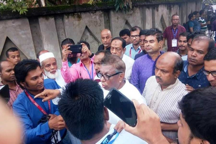 Sylhet BNP mayoral candidate Ariful Haque Chowdhury alleged that his agents have been kicked out from two polling centres. Photo: UNB