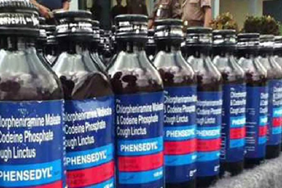 RAB arrests two with 1,440 bottles of Phensidyl