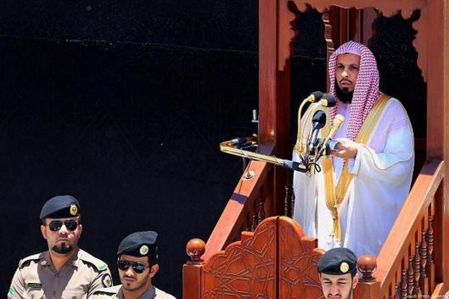 Sheikh Saleh Al-Talib, imam and preacher of the Grand Mosque in Makkah. Photo: Saudi Press Agency