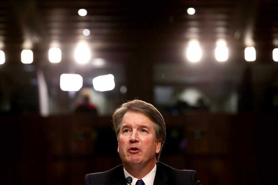 US Supreme Court nominee judge Brett Kavanaugh speaks during a Senate Judiciary Committee confirmation hearing on Capitol Hill in Washington, US, September 4, 2018. Reuters/File Photo